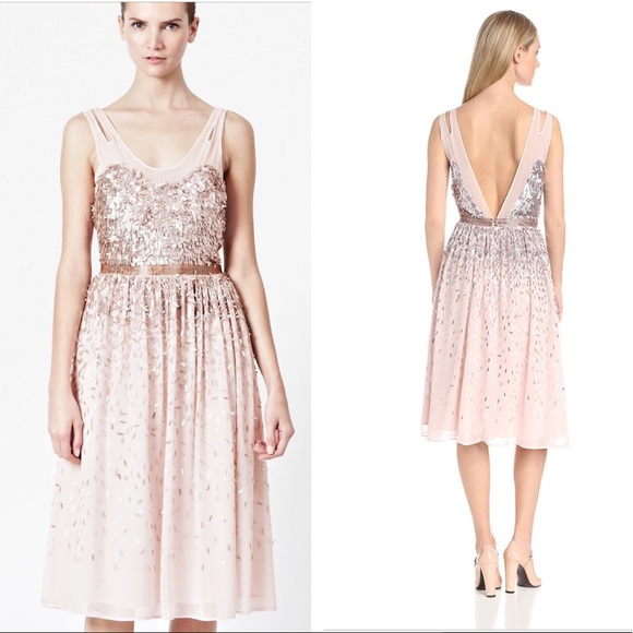 French Connection Shimmer Shower Sequin Dress